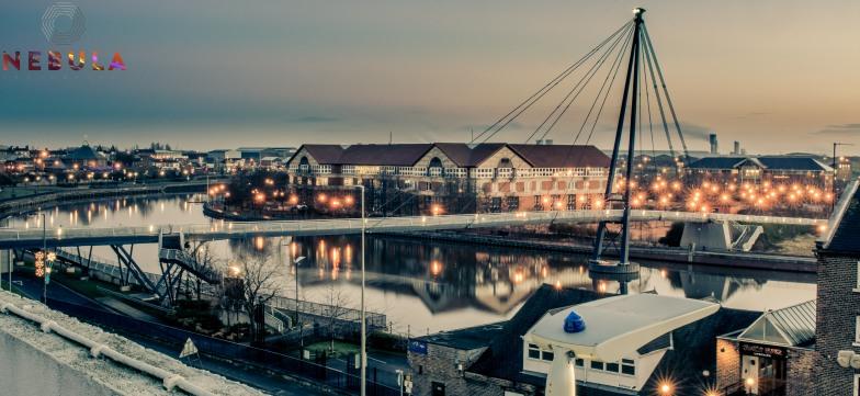 Real Stockton - Princess of Wales Bridge - Sunrise 2014